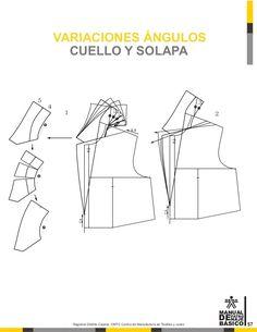 Manual de patronaje CMT - SENA Pattern Making Books, Pattern Books, Clothing Patterns, Sewing Patterns, Pattern Drafting Tutorials, Blazers, Jacket Pattern, Charts, How To Make