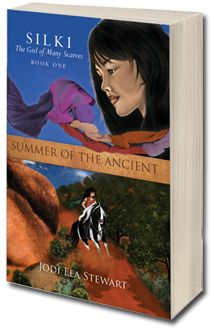 SILKI The Girl of Many Scarves Book 1: Summer of the Ancient.  Available now at Barnes and Noble as well