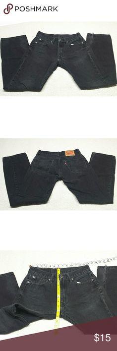 levis jeans 505 size w29 and L32 levis jeans 505 size w29 and L32 straight Leg  black Jeans Levi's Jeans Straight