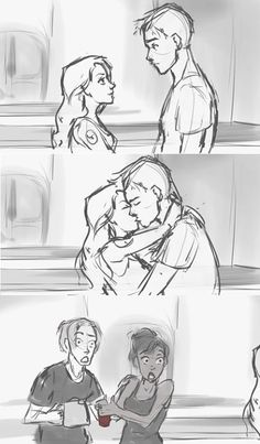Tris and Tobias fan art- this made me crack up so hard. It also made my heart clench in the most happy way. <3