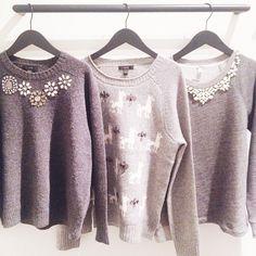 J. Crew sweaters with beaded collars #sweaters #sweaterweather #jcrew