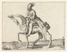 Ruiter die zijn zwaard trekt, Jacob de Gheyn (II), 1599