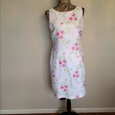 Dress Barn Embroidery floral dress  Gently used                                                  Please ask for additional pictures, measurements, or ask questions before purchase.  No trades or other apps  Ships next business day, unless noted in my closet   Bundle for discount Dress Barn Dresses