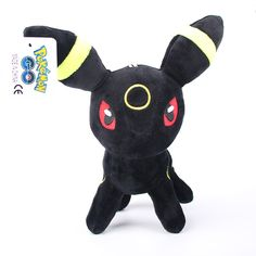 5pcs/lot 20cm Standing Umbreon Plush Toy Pocket Monster Eevee Series Umbreon Stuffed Plush Toys Doll Figure Toy Gifts for Kids #Affiliate