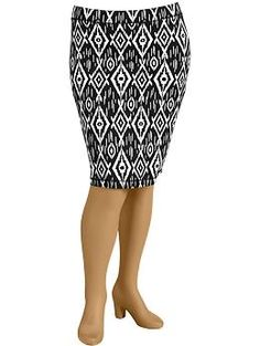 Women's Plus Jersey-Stretch Pencil Skirts | Old Navy