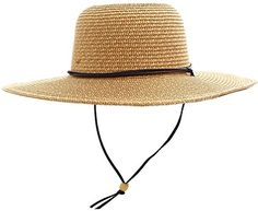 Jasmine Sun Hat Women's Wide Brim Sun Protective Straw Sun Hat,Dark Brown. For product & price info go to:  https://all4hiking.com/products/jasmine-sun-hat-womens-wide-brim-sun-protective-straw-sun-hatdark-brown/