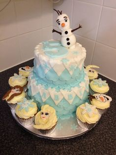 frozen 5th birthday cake