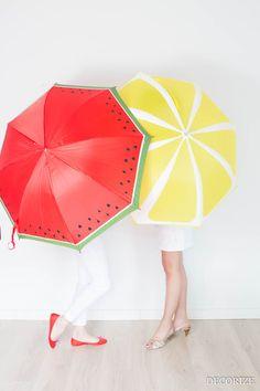 DIY: Freche Früchtchen - Unsere Schirme für gute Laune - Decorize