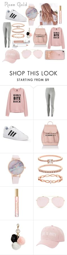 """Rose Gold ♡"" by maliroberts ❤ liked on Polyvore featuring Puma, adidas, Accessorize, Tory Burch, GUESS, Charlotte Russe and Rebecca Minkoff"