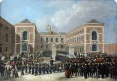 Recollections of Liverpool Blue Coat Hospital, St George's Day, 1843,by Henry Travis (after)