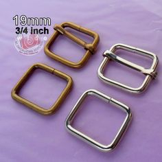 30 Sets Adjustable Strap Kit with slide and rectangle ring - 3/4 Inch / 19mm Width (available in nickel and antique brass finish)
