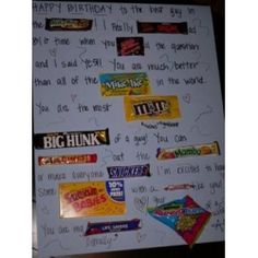 Homecoming Asking Posters Candy