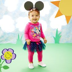 Crafted the Minnie Mouse ears and paper grass background. (98001) Fanciful Friends: Character Apparel