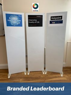 The Branded Leaderboard is a white #Leaderboard with a branded header. The #BrandedLeaderboard is perfect for logos & small designs making it bespoke for your event.   The Leaderboard is used for #CorporateEvents, #BrandActivations #Conferences #Exhibitions #TradeShows & more.   The #LeaderboardHire is perfect alongside our #InteractiveGames & #ActivitiesForHire. The #BespokeLeaderboard comes with magnetic strips for scores to be written on making them easy to adjust…