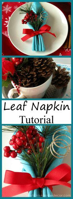 Fall Holiday Leaf Napkin Tutorial