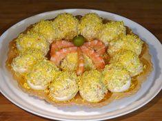 -------------------- También en el Blog: http://lacocinadelolidominguez.blogspot.com.es/2016/01/huevos-rellenos-de-marisco.html -------------------- Videoreceta:  https://www.youtube.com/watch?v=MhNzYCgwiqU  --------------------