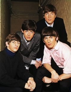 The Beatles (G... rockin' the pink shirt :)