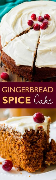 Here's an exceptionally simple recipe for super moist gingerbread spice snack cake. The spice flavor is incredible! Recipe on sallysbakingaddiction.com
