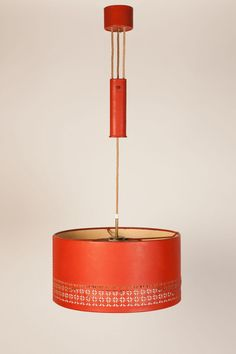 Hermés, leather and brass ceiling lamp, Retro Lighting, Interior Lighting, Lighting Design, I Love Lamp, Mid Century Lighting, Modern Retro, Vintage Lamps, Mid Century Modern Design, Ceiling Lamp