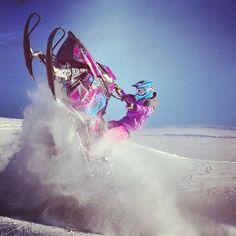 Sno Girl Maria Sandberg:) hopefully me someday! Winter Fun, Winter Sports, Snowboarding, Skiing, Ski Doo, Polaris Snowmobile, Big Girl Toys, Snow Machine, Snow Girl