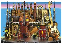 Music Castle 1500 Piece Jigsaw Puzzle
