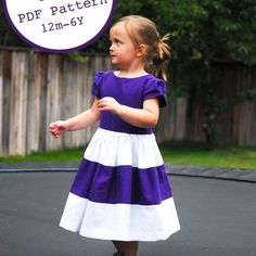 A free pattern for a color block dress sizes 12m-6Y  For instructions please visit this post:  https://shwinandshwin.com/2012/09/the-color-block-dress-free-pdf-pattern.html