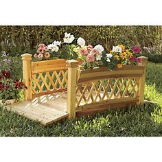 Decorative Garden Bridge with Planters from Through the Country Door®