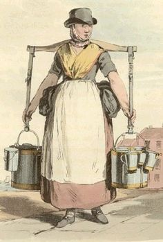 "Wish this was cited: ""1820s milkmaid with her different measuring jugs"""