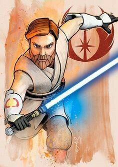 STAR WARS : Drawing | Obi-Wan KENOBI | STAR WARS : Clone Wars | By Steve ANDERSON | STAR WARS : Fan Art