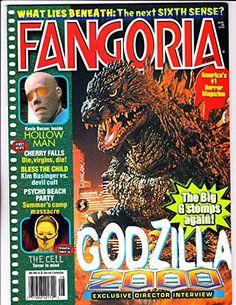 """Fangoria 195 """"Godzilla 2000 """" cover"""