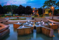 -Centennial Fountain – Galt Cambridge Ontario Cambridge Ontario, Tri Cities, Busy City, Outdoor Furniture Sets, Outdoor Decor, Beautiful Architecture, Wonderful Places, Places To See, The Neighbourhood