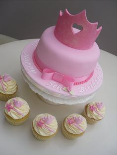 Cute princess cake. I think I might just add some tulle around the bottom.