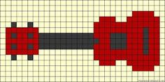 Resultado de imagen de pattern perler beads guitar