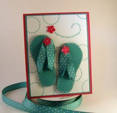 stamping up north with laurie: Flip flop template