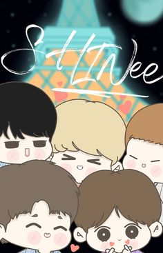 Shinee Five, Chibi Wallpaper, Aesthetic Iphone Wallpaper, Jonghyun, Kpop Groups, Korean Singer, Kawaii, Fan Art, Draw