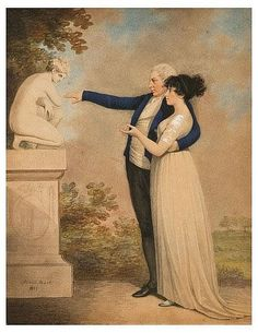 Adam Buck: A lady and gentleman, 1801.