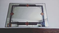 Your place to buy and sell all things handmade Mirror Brackets, Charles Rennie Mackintosh, Crates, Oversized Mirror, Stained Glass, Art Deco, Range, Etsy, Design