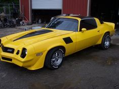 """The Muscle Car History Back in the and the American car manufacturers diversified their automobile lines with high performance vehicles which came to be known as """"Muscle Cars. Chevrolet Camaro 1970, Camaro Iroc, Camaro Car, 1979 Camaro, Custom Muscle Cars, Chevy Muscle Cars, Us Cars, Sport Cars, Yellow Camaro"""