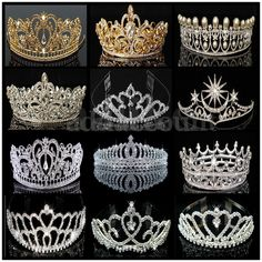 Wedding bridal princess Austrian crystal prom tiara crown veil headband, make you feeling in fairy tale! Elegant style hair Tiara make you more charming and attractive. Princess Bridal, Princess Tiara, Wedding Tiara Hairstyles, Crown Hairstyles, Royal Crowns, Tiaras And Crowns, Bridal Crown, Bridal Tiara, Wedding Tiara Veil