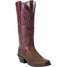 10014173 Ariat Women's Round Up Buckaroo Boots - Earth/Fig www.bootbay.com