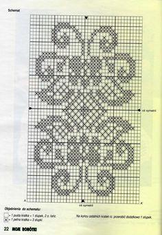 New Ideas Crochet Doilies Filet Cross Stitch Crochet Blanket Border, Crochet Pillow, Tapestry Crochet, Crochet Doilies, Crochet Lace, Knitting Charts, Knitting Patterns, Crochet Patterns, Crochet Cross