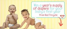 Enter now to win a year's supply of diapers for your baby ($750 value)  Our mission is simple: to help busy parents have more fun with their kids. Red Tricycle offers ideas for things to see, eat and do with your kids.
