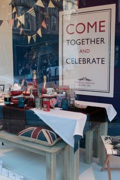 Window display in London prepped for the Royal Wedding