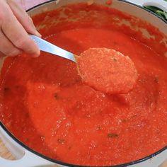 Fresh Tomato Marinara Sauce, Pasta Sauce With Fresh Tomatoes, Marinara Recipe, Pasta Sauce Recipes, Recipes With Fresh Tomatoes, Tomato Pasta Sauce, Homemade Tomato Paste, Homemade Marinara Sauce, Italian Recipes