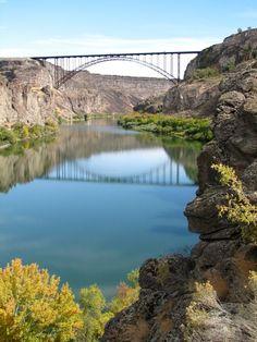 Bridge Across Snake River at Twin Falls, Idaho