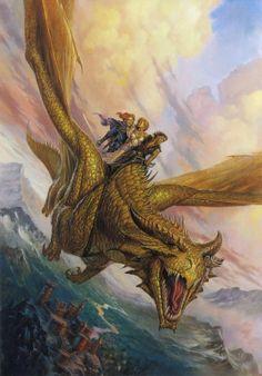Dragón dorado, de Todd Lockwood