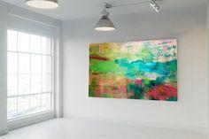 Original Landscape Painting by Ivana Olbricht Abstract Landscape Painting, Abstract Art, Ivana, Vivid Colors, Saatchi Art, Original Paintings, Canvas Art, Palette, Places