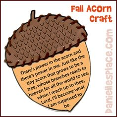 Free Fall Acorn Craft from www.daniellesplace.com