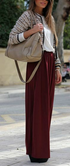 I'm not a maxi fan, but this color combination is cute and I like the top and jacket.