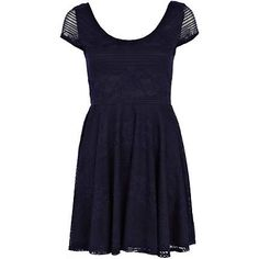 Navy lace low back scoop skater dress £32.00